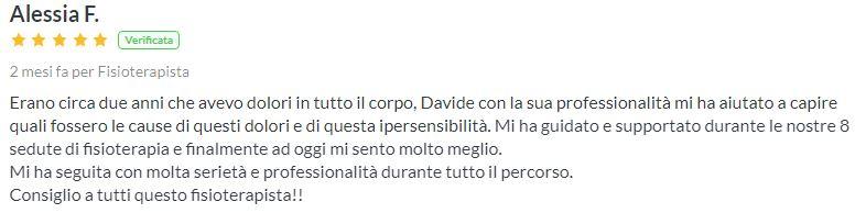 Davide Marotta fisioterapista recensione